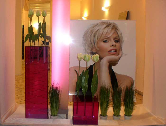 Friseurr ume und schaufenster gestaltet vom lifestyle deko for Weihnachtsdeko schaufenster